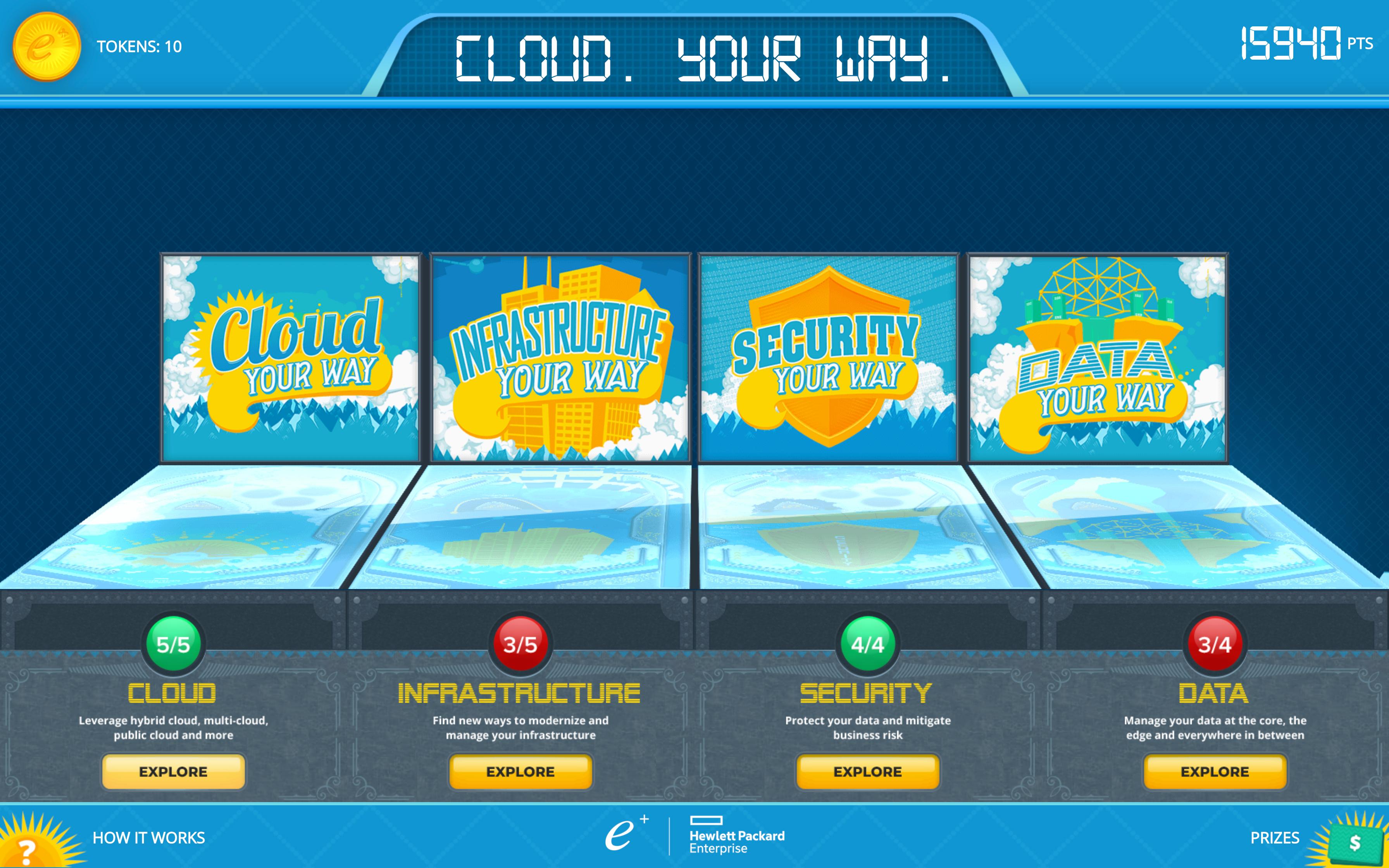 """""""Cloud. Your Way."""" Virtual Pinball Arcade"""