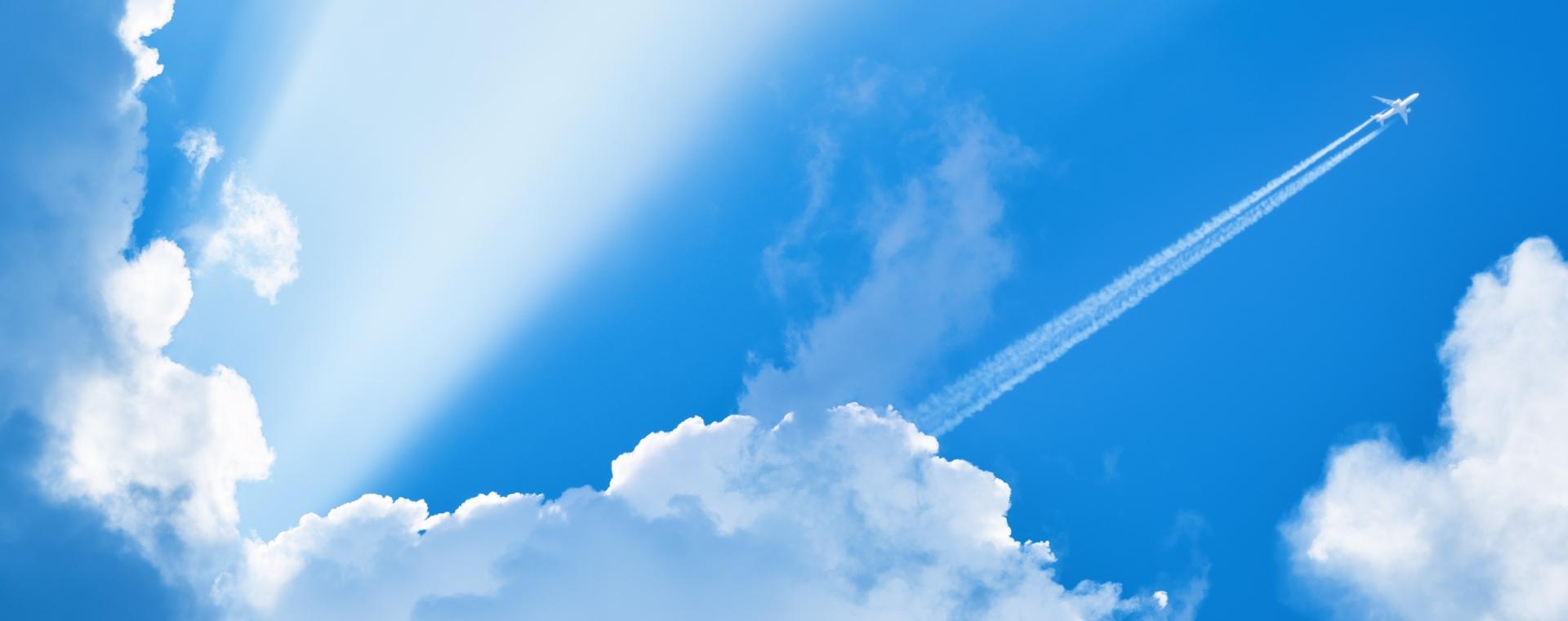 Slideshow Banner Cloud Plane